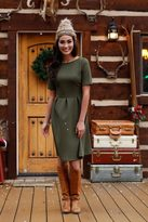 Shabby Apple Holly Green Fit and Flare Dress