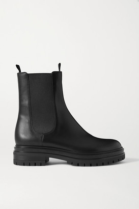 Gianvito Rossi Leather Chelsea Boots - Black