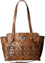 American West Crossed Arrows Zip Top Tote Tote Handbags