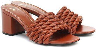 Valentino The Rope 60 leather sandals