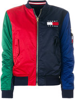 Tommy Jeans block colour bomber jacket