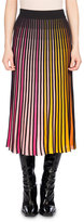 Kenzo Pleated Jersey Midi Skirt, Multicolor