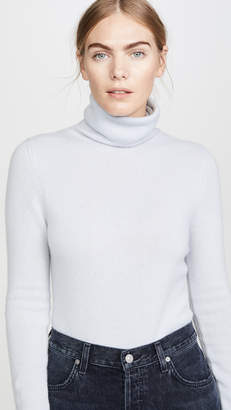 TSE Cashmere Waisted Turtleneck