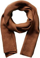 Portolano Men's Brown Melange Merino Wool Scarf