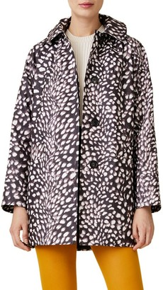 Jane Post Printed Swing Slicker Coat