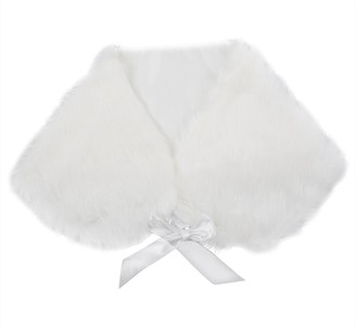Summerwindy Plush Faux Fur Women Wedding Wraps Shrug Bolero Jackets Bridal Coat Shawls