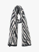 French Connection Animal Print Scarf, Classic Cream/Black