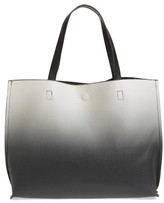 Street Level Ombre Reversible Faux Leather Tote - Black