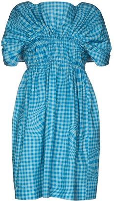 Molly Goddard Corinna ruched gingham-print dress