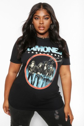 boohoo Plus Ramones Band License T-Shirt
