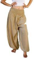 Siam Secrets Unisex Alibaba Harem Beach Yoga Pants One-Size Khaki