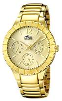 Lotus Women's Quartz Watch with Gold Dial Analogue Display and Stainless Steel Gold Plated Bracelet 15903/2