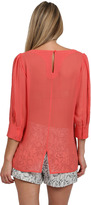 Chelsea Flower Puff Sleeve Blouse in Blush
