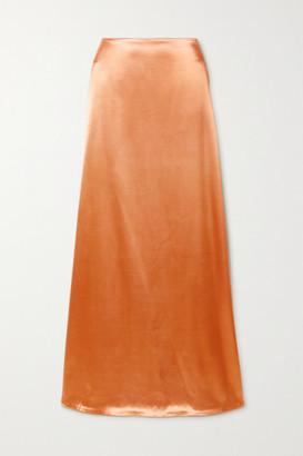 Jil Sander Satin Maxi Skirt - Peach