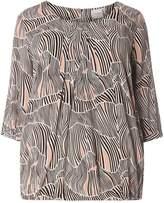Junarose **Juna Rose Curve Blush Print Shell Top