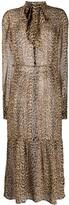 Saint Laurent leopard print silk sheer dress
