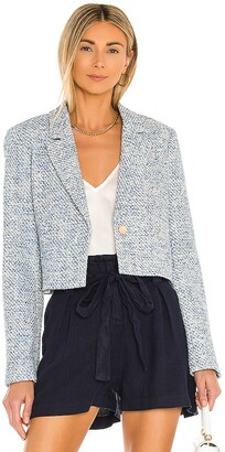 BCBGMAXAZRIA Tweed Crop Blazer