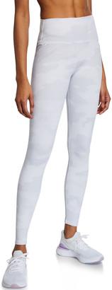 Alo Yoga Vapor Camo-Print High-Waist Performance Leggings