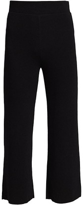 NSF Steff Wide-Leg Pull-On Cropped Pants