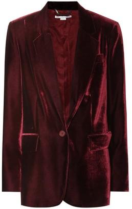 Stella McCartney Nicole velvet blazer