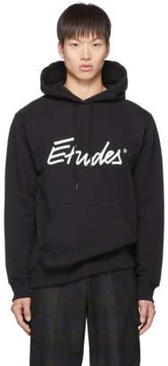 Études SSENSE Exclusive Black Signature Logo Hoodie