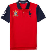 Ralph Lauren Color-Blocked Cotton Mesh Polo