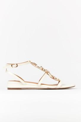 Wallis White Ring Flat Sandal