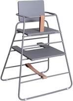 BzBx TOWER High Chair, Grey/Tan