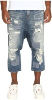 Mostly Heard Rarely Seen Distressed Enzo Drop-Crotch Jeans Men's Jeans