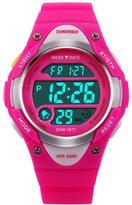 Hi Watch Hiwatch Kids Sport Watch 164 Feet Waterproof LED Digital Watch for Girls Pink