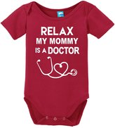 Sod Uniforms Relax My Mommy is A Doctor Printed Infant Bodysuit Baby Romper