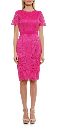 Alexia Admor Delora Short Sleeve Lace Sheath Dress