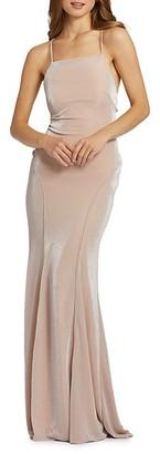 Mac Duggal Shimmer Sheath Gown