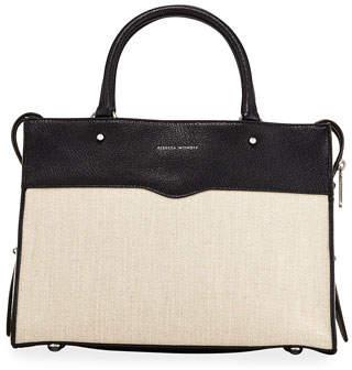 Rebecca Minkoff Bedford Zip Linen Satchel Bag
