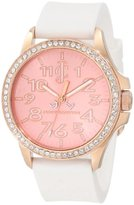 Juicy Couture Women's 1900963 Jetsetter White Silicone Strap Watch