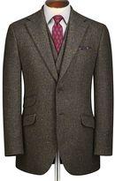 Charles Tyrwhitt Green slim fit Donegal tweed jacket