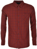Nudie Jeans Long Sleeved Henry Check Shirt Red