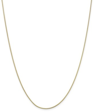 Curata 10k Yellow Gold 0.9mm Round Snake Chain Necklace