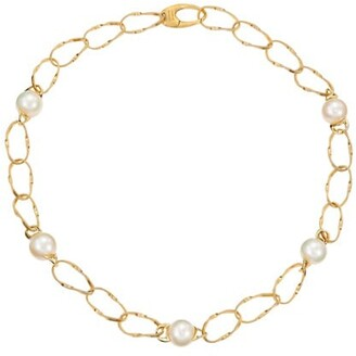 Marco Bicego Marrakech Onde 18K Yellow Gold & 10MM Pearl Coil-Link Short Necklace