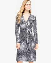 Ann Taylor Tall Tossed Leaf Wrap Dress