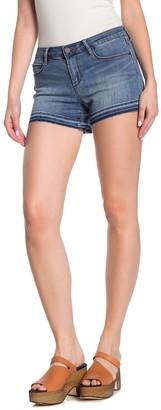Articles of Society Zina Frayed Raw Hem Jean Shorts
