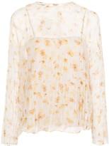 Vince floral-print crinkled blouse