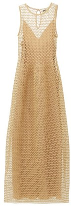 Maison Rabih Kayrouz Metallic Open-knit Gown - Gold