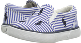 Polo Ralph Lauren Blue Stripe Bal Harbour Repeat Booties - Infant