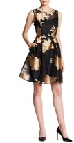 Ellen Tracy Floral Burnout Dress