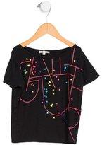 Junior Gaultier Girls' Metallic Print Short Sleeve Top