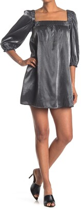Rowa Metallic 3/4 Length Sleeve Dress