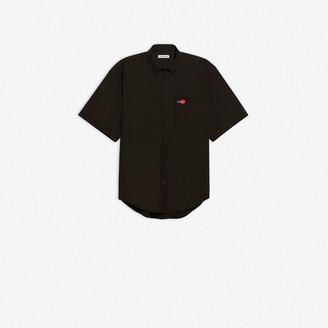 Balenciaga Uniform Short Sleeve Large Fit Shirt