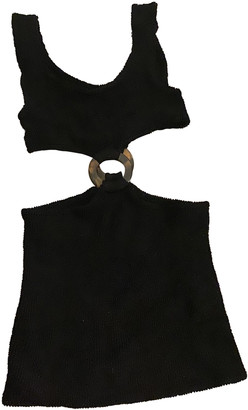 Hunza G Black Cotton - elasthane Dresses