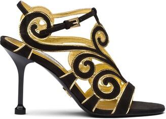 Prada Baroque Detail 90mm Sandals